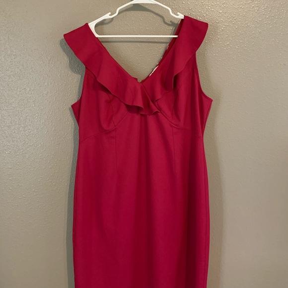 Red mid length dress size 3X, love award